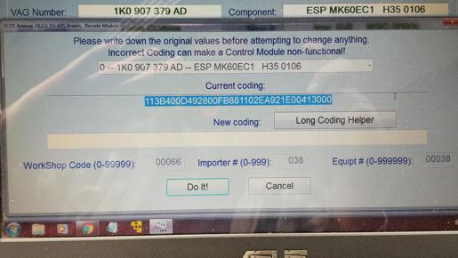 2009 Volkswagen Jetta 2 5 ABS Long Code Help Needed (MK60EC1)