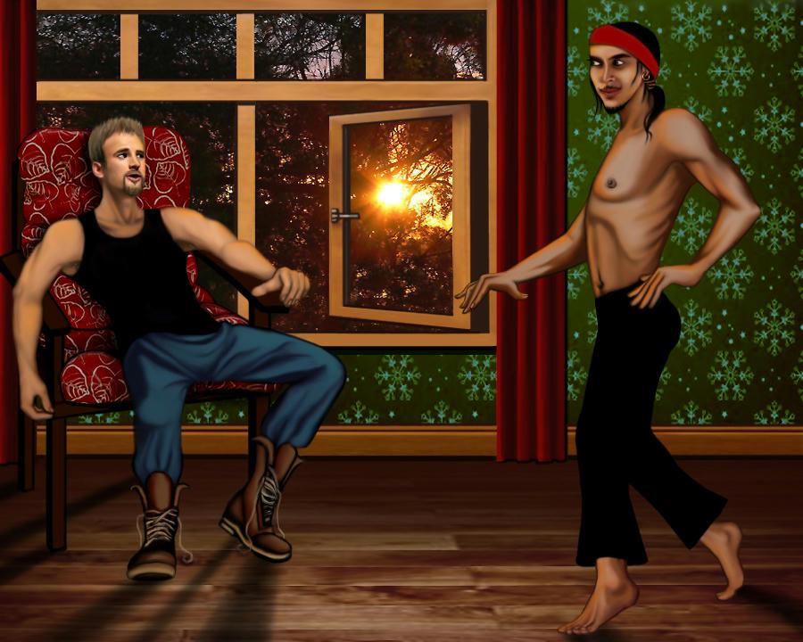 Cougar flamenco dancing in a mating dance for Jake