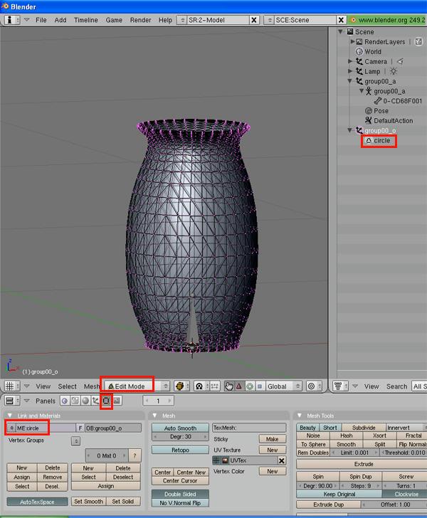 [Apprenti] [Blender 2.4 à 2.49] Créer et intégrer son premier mesh de A à Z / 8-Remplacement du mesh d'origine dans Blender W73t46vu274f2c26g