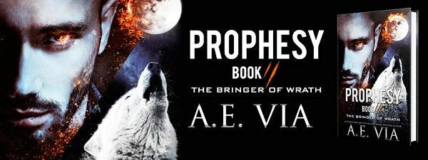 A.E. Via - Prophesy Book #2 The Bringer of Wrath Banner
