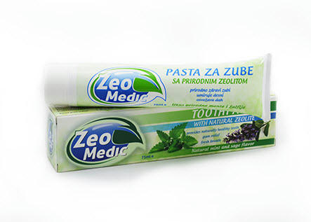 Зубная паста с природным цеолитом 75 мл.