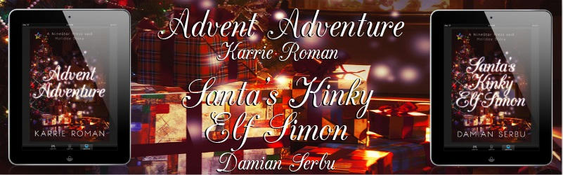 NSP Holiday Stories Santa's Kinky Elf, Simon by Damian Serbu & Advent Adventure by Karrie Roman Banner