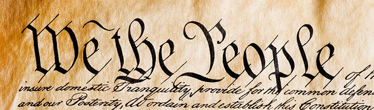 Image of the words we the people from the Constitution