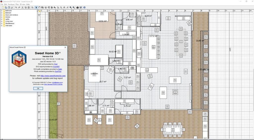 sweet home 3d print floor plan. Black Bedroom Furniture Sets. Home Design Ideas