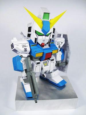 โมเดลกระดาษ-sd-alex-gundam-rx-78nt-1