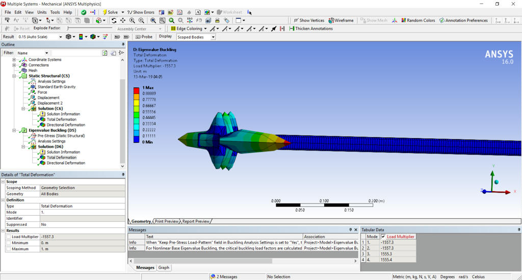 Problem with ANSYS Workbench deformed shape on Eigenvalue Buckling