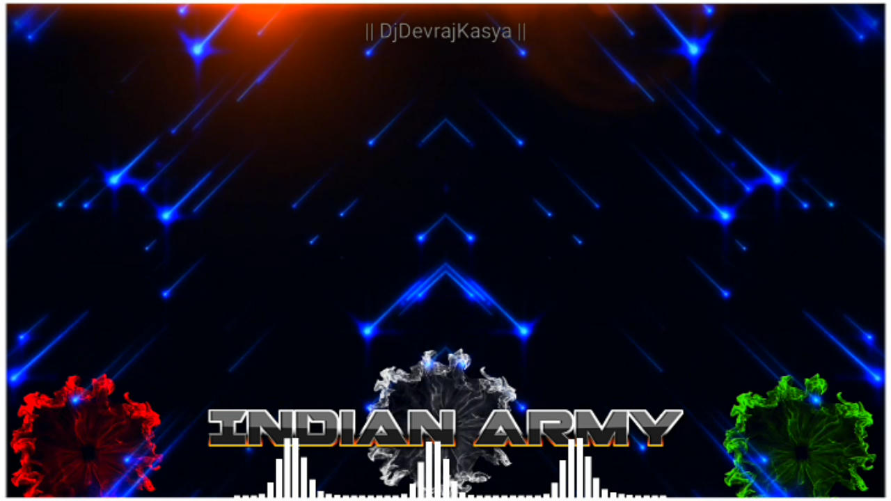 Indian Army Avee Player Template Green Screen