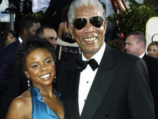 El actor-Morgan-Freeman-y-su-nietastra-Edena-Hines,-en-épocas-más-felices