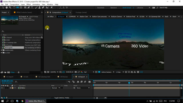 360° Video Editor & VR Camera for After Effects (Miscellaneous