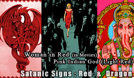 girl in red. woman in red . satanic red . red dragon