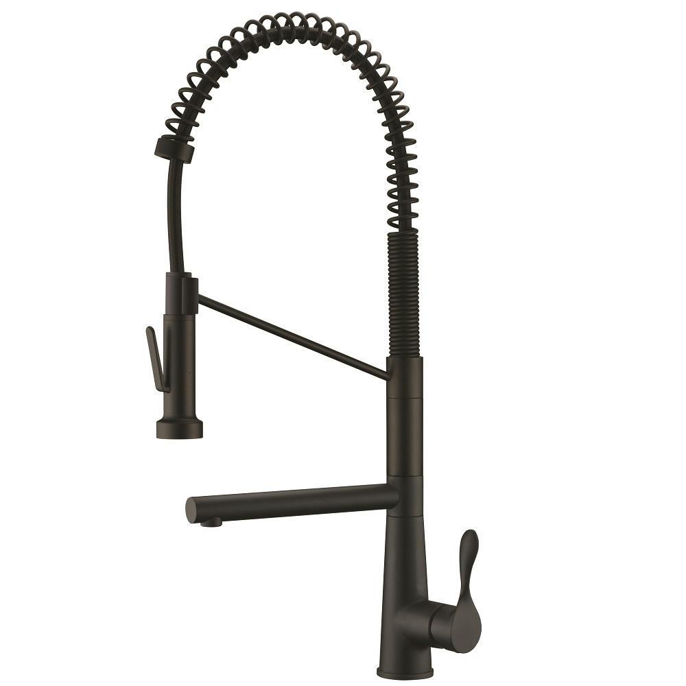 AB50 3787MB Spring Kitchen Faucet, Matte Black
