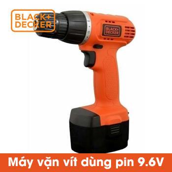 Máy vặn vít dùng pin Black+Decker 9.6v