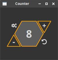 QCounter main window