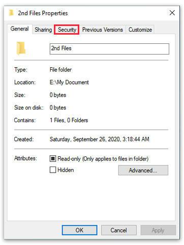 Windows File dan Folder Properties Detail