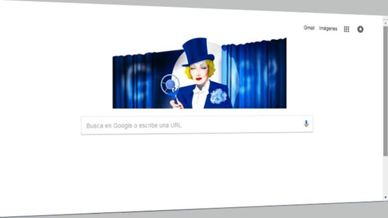 Marlene Dietrich, más que una mujer, una voz o un Doodle de Google
