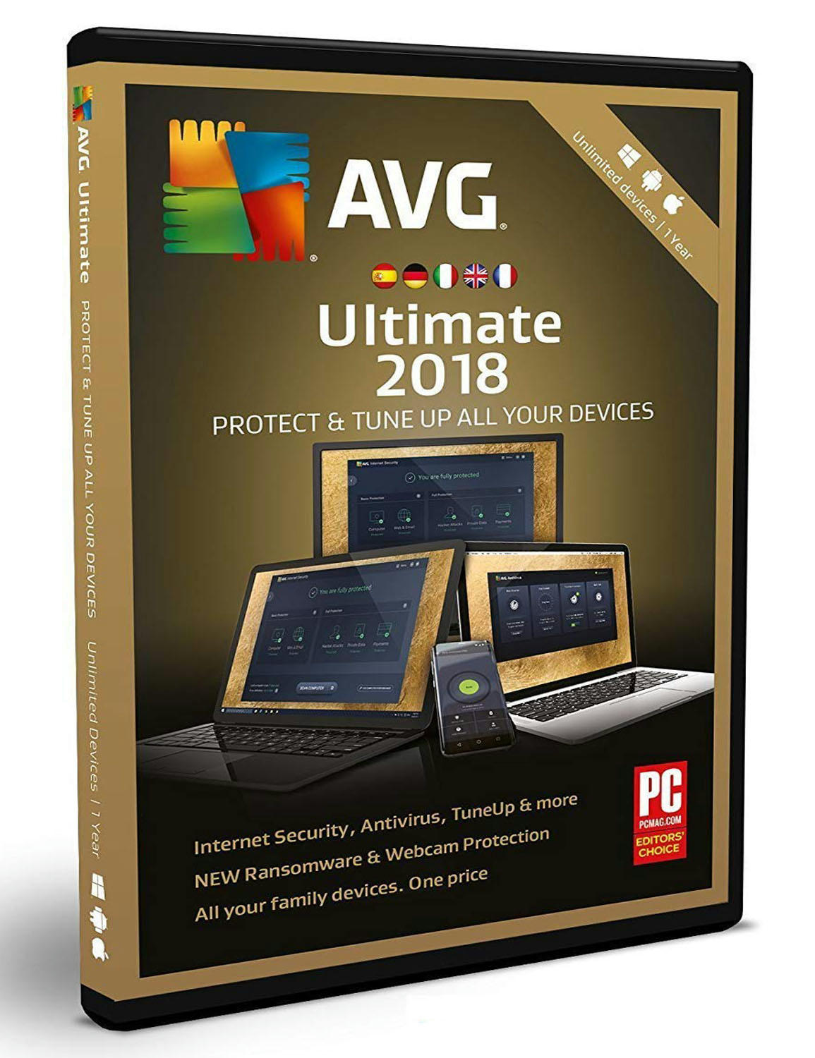 a2f87a58aaa9 AVG TuneUp 2018 Unlimited - 1 Year Unlimited Devices  (PC  Mac  Android )  Christmas Holiday