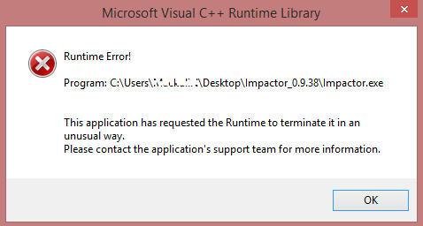 cydia impactor runtime error
