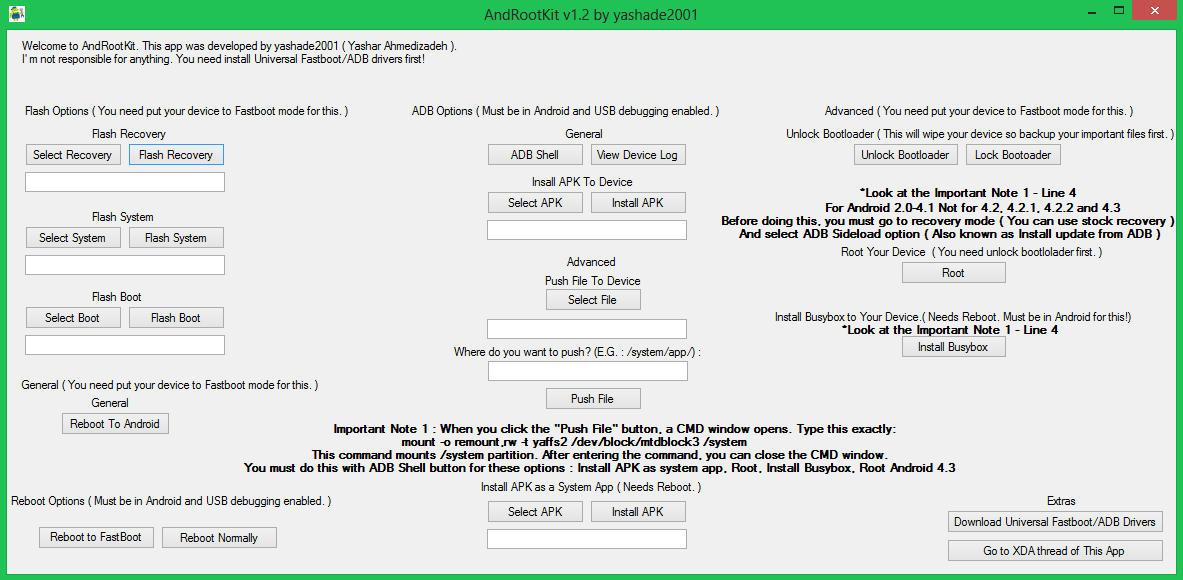 AndRootKit: Effettuare Flash, Installare APK, Bloccare e