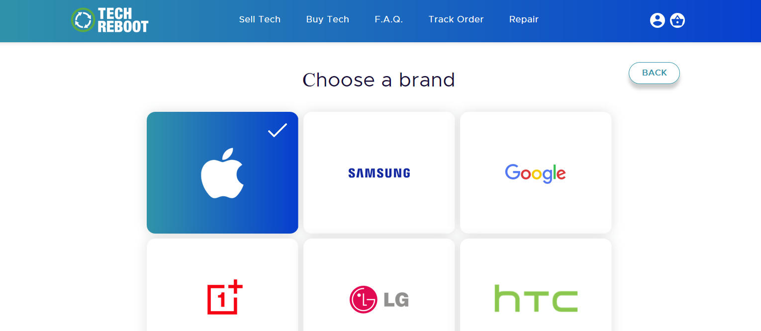 Selling Your Broken Phone - Choose the brand of your Smartphone