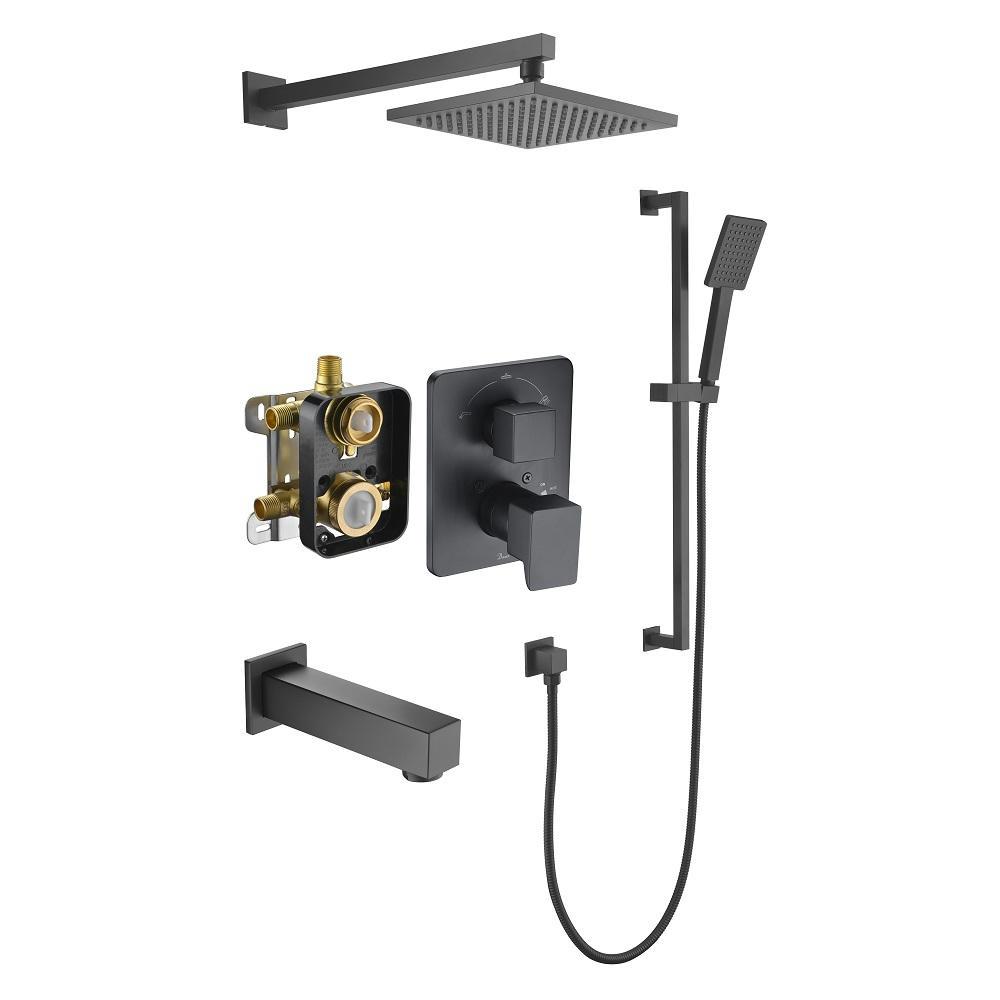 Biscayne Shower Set DSSBE06MB Matte Black