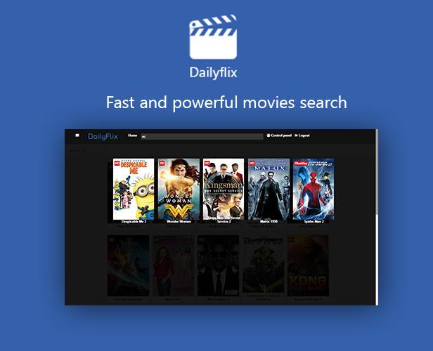 Dailyflix - powerful movie search
