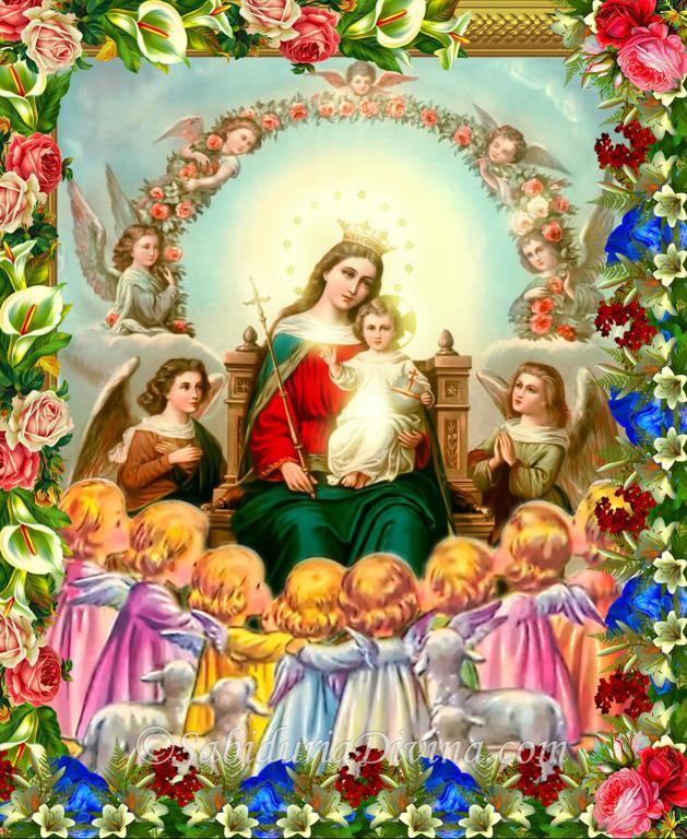 Angeles Virgen Maria con Jesus