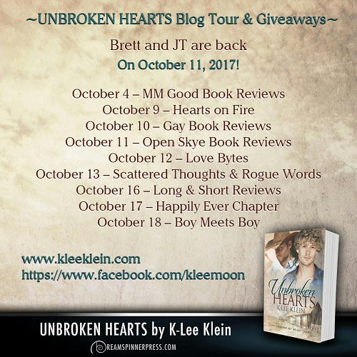 K-lee Klein - Unbroken Hearts Blog Tour