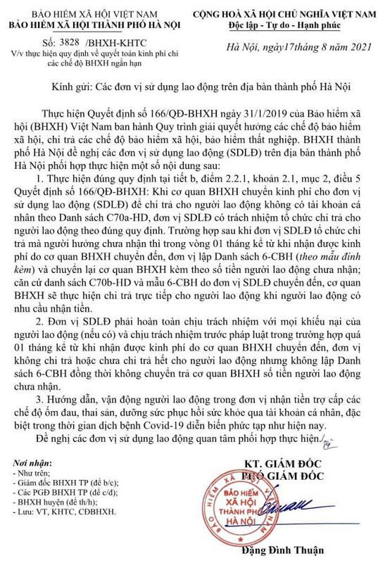 3828-2021-BHXHHN-KHTC ve quyet toan che do BHXH ngan han.jpg