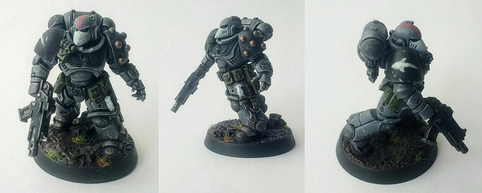 Warhammer 40K Space Marine Devastator squad Sergeant MK8 Torso 40k bits