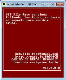 USB File Resc Error