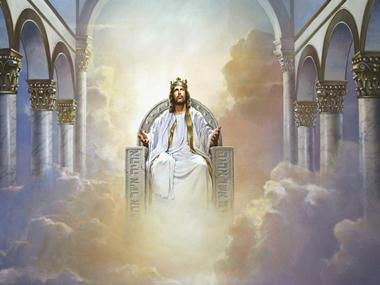 Jesus Rey sentado en el Trono de Justo Juez - divider15
