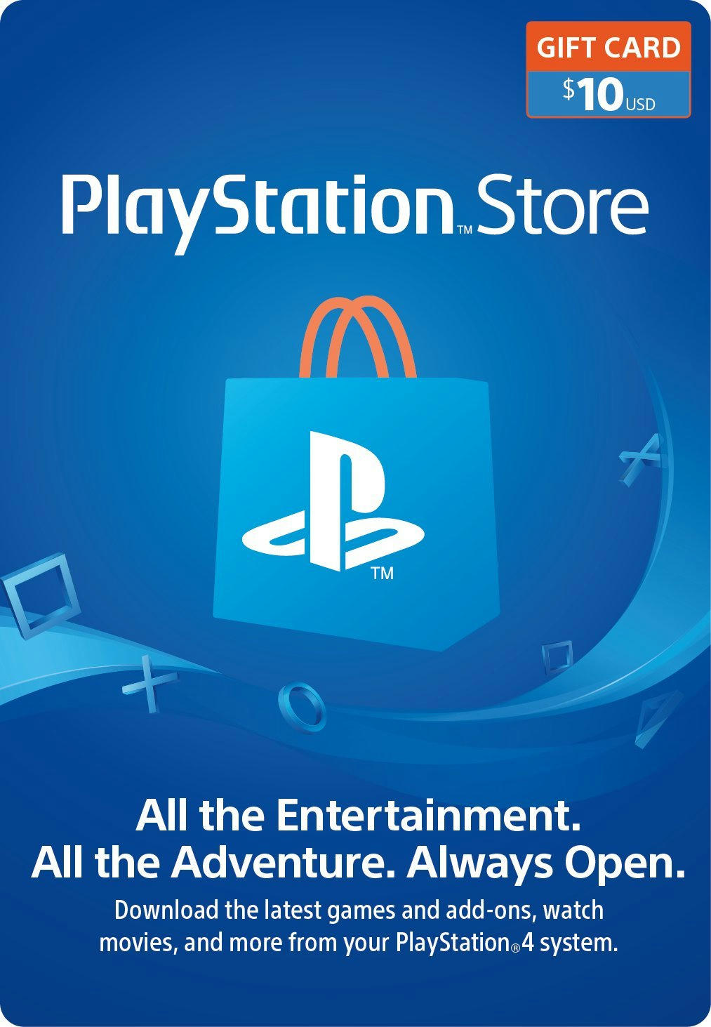 $10 PlayStation Store Gift Card Digital Code-online shopping store