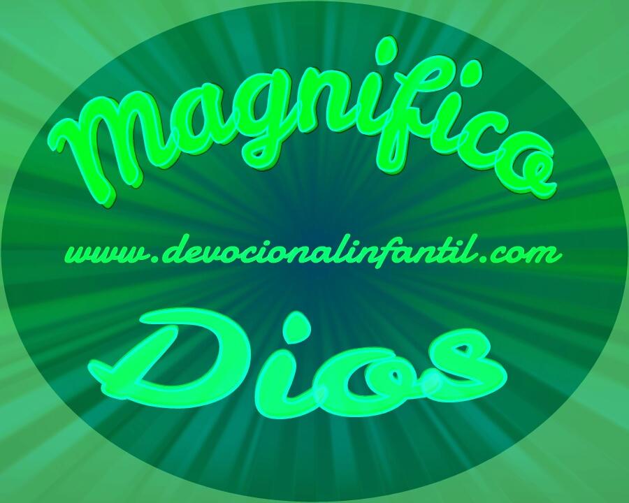 Magnifico Dios – Tarjeta