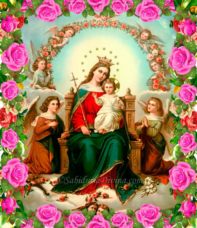Virgen Maria reina de los Angeles - banner central
