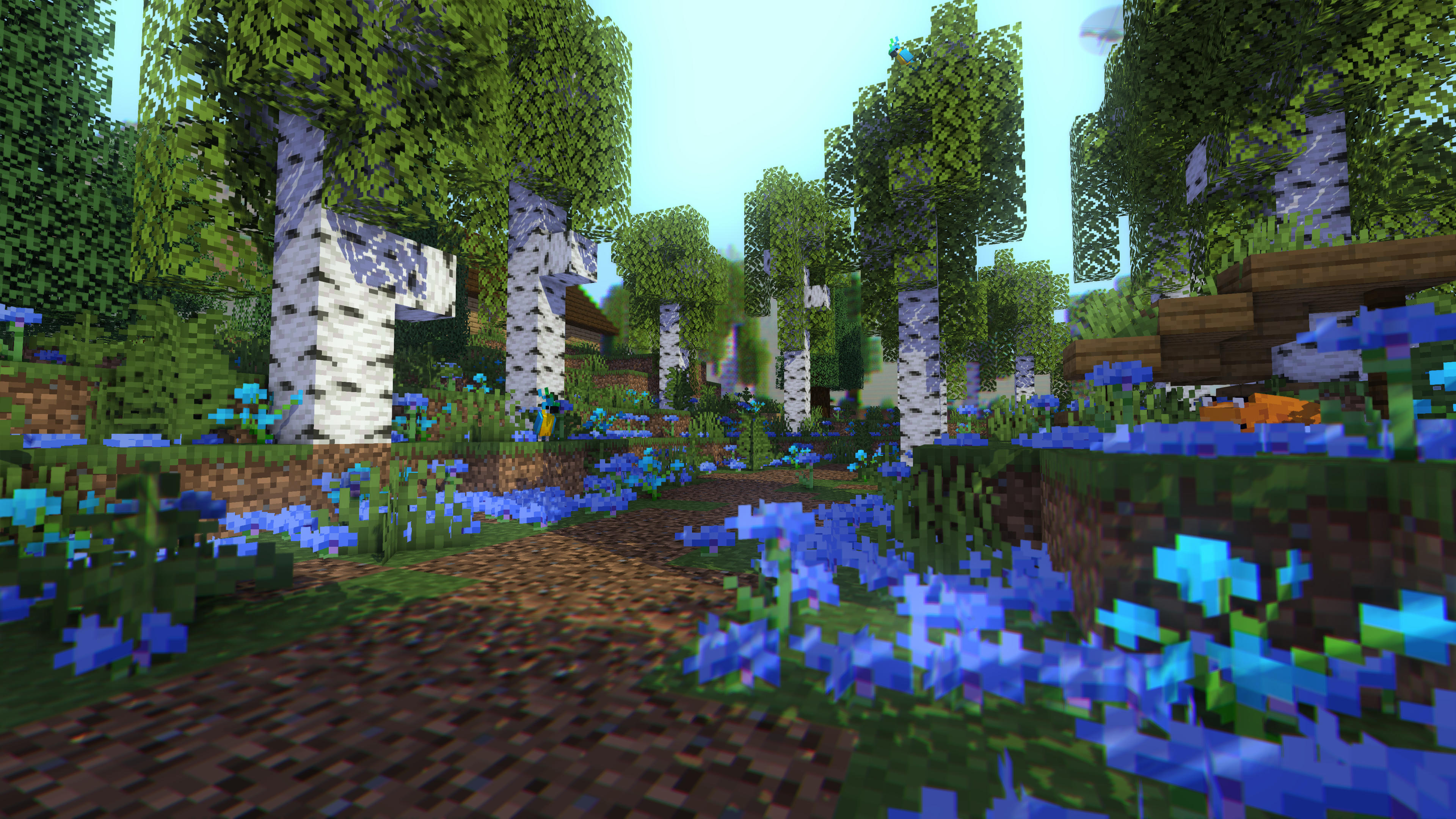 Blue Forest Wallpaperrender Wallpapers And Art Mine