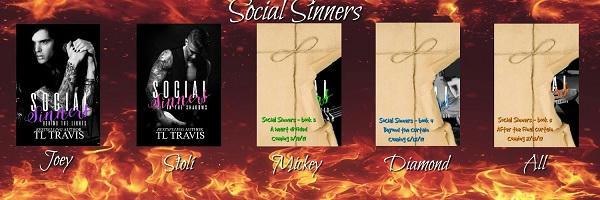 T.L. Travis - Social Sinners series Banner