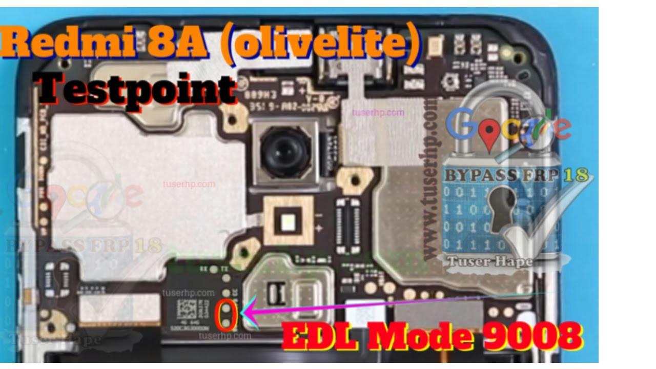ازالة قفل FRP لهاتف Xiaomi Redmi 8A OLIVELITE M1908C3KG بالتيست بوينت