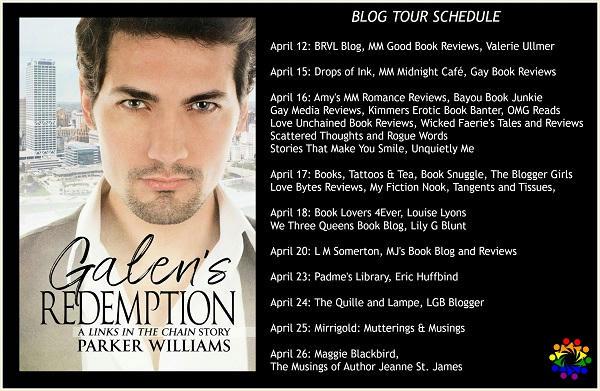 Parker Williams - Galen's Redemption SCHEDULE