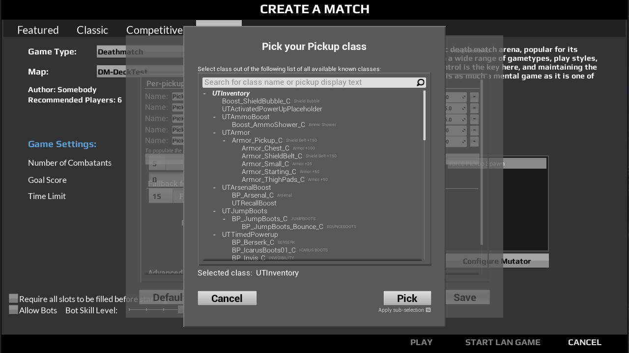 Force Pickup Spawn [Mutator][BP] - Unreal Tournament Forums