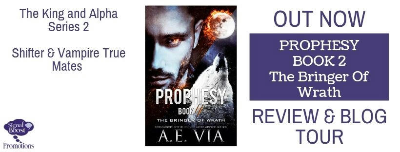 A.E. Via - Prophesy Book #2 The Bringer of Wrath RT&BT BANNER-33