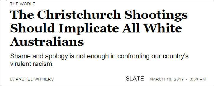 All whites to blame
