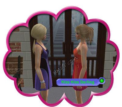 The Sims 2 Apartment Life Apartman Hayatı Kiss Kiss Darling Gesture Selamlama