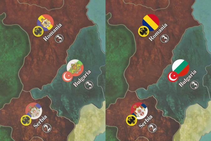 Roundels Romania and Bulgaria