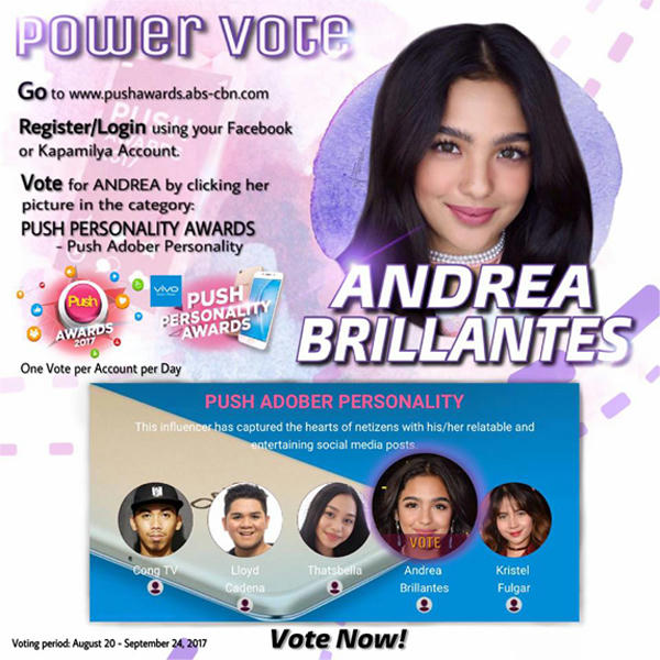 Let's Vote Andrea For 'PUSH ADOBER PERSONALITY'