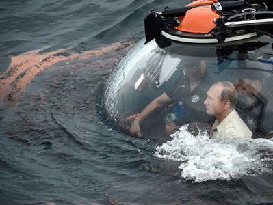 Путин погружается