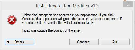 re4 ultimate item modifier v1.1