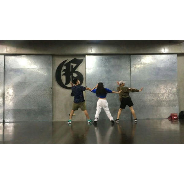 Andrea Brillantes With Teacher @gforce_devon & Teacher @gforce_jazztin