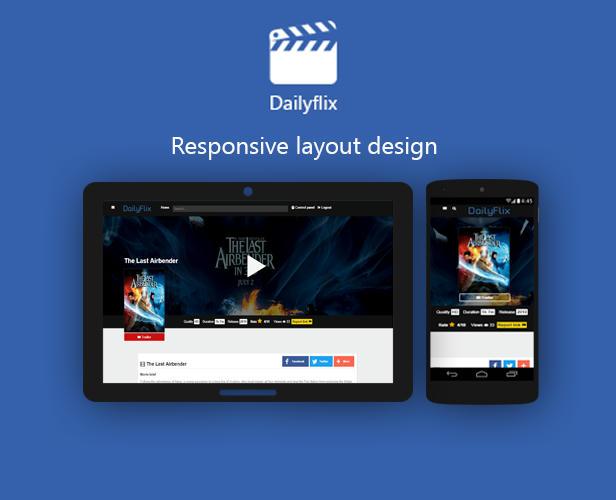 Dailyflix - Responsive layout design