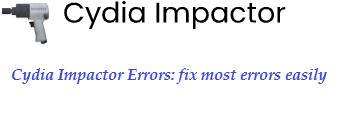 Cydia Impactor Errors: fix most errors easily