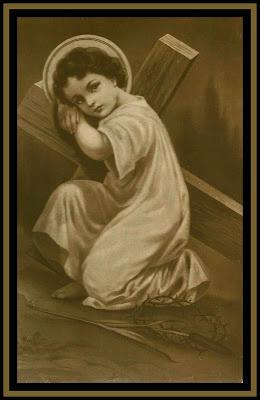 Via dolorosa. Niño Jesús con la Cruz